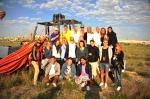 Gruppbild från efter ballongflygningen.