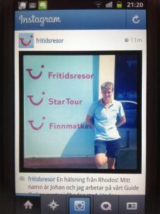 Instagram i Fritidsresors namn.