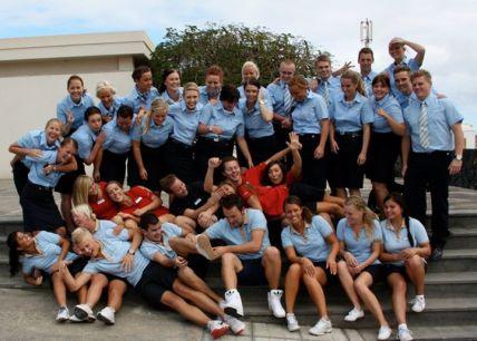 Gruppbild på Lanzarote.