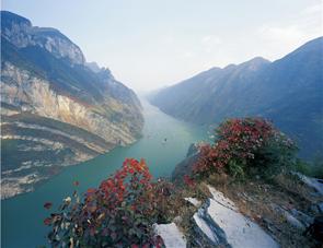 Kryssning på Yangtze River.