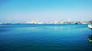 Hamnen i Rhodos stad.